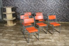 These Retro Stackable Chairs Are A Great Addition To Our Large Selection Of Vintage  Metal Stacking