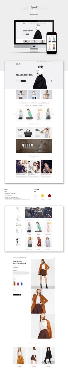 QUEEN FASHION STORE WEB DESIGN on Behance
