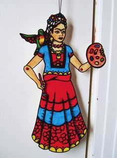 articulated paper doll, Frida