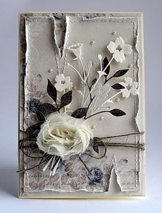 Pretty shabby card with delicate die cuts.