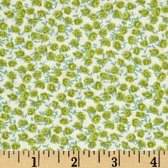 Calico Roses Apple Green