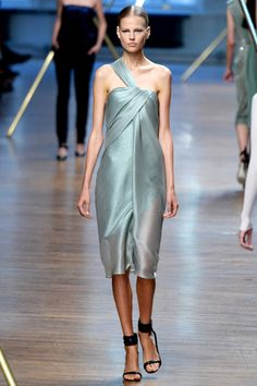 "Mint silk ""sarong"" by Jason Wu 