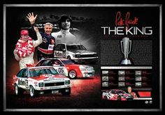 THE KING – PETER BROCK  Framed tribute to the King of the Mountain nine-time Bathurst 1000 winner Peter Brock Features the facsimile signature & iconic images of Peter Brock as chosen by his family Includes a piece of Brock's race jacket from his final race at Bathurst Officially licensed by V8 Supercars & endorsed by the Peter Brock Foundation Accompanied byCertificate of Authenticity Limited to 161 units worldwide a homage to the 161 laps of the Bathurst 1000