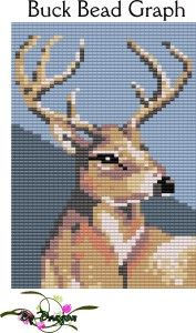 Buck Bead Graph : Beading Patterns and kits by Dragon!, The art of beading.