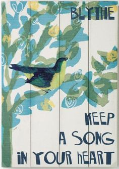 Keep a Song in Your Heart Personalized Wooden Sign bathroom wall art #HomeDecorators