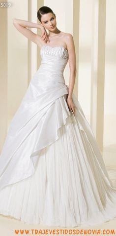 5019  Vestido de Novia de gasa y tafetan Atelier Diagonal diseño