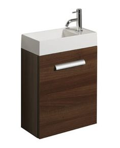 Box wall suspended basin unit