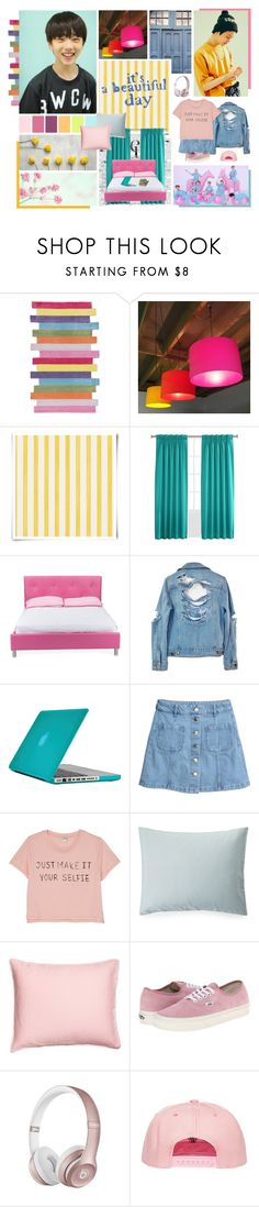 """""""ROUND 2 // ROOM – NCT DREAM"""" by annefs1 ❤ liked on Polyvore featuring nuLOOM, Christian Lacroix, Sun Zero, Baxton Studio, High Heels Suicide, Speck, H&M, Monki, Lexington and Vans"""