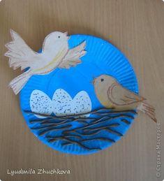 Pictura murala desen Application Dezvoltare Timpurie Cares păsări de hârtie Vopsea cu guașă Plastilină fotografie 1