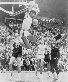ad324ab313 Lew Alcindor (Kareem Abdul-Jabbar) UCLA - The dunk was banned in college