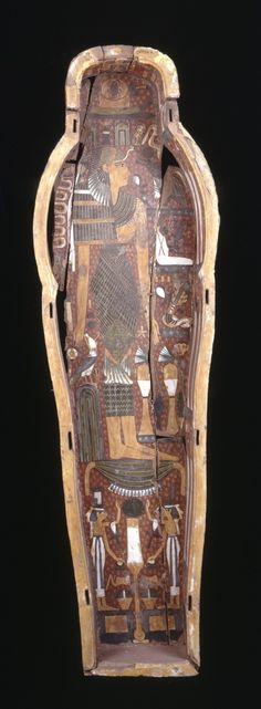 Wooden anthropoid inner-coffin, 21 st Dynasty, Thebes. British Museum, Online Collection.