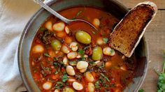Lima Bean Stew with Olives and Kale | Kitchen Vignettes | PBS Food
