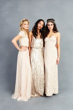 Mix and Match Bridesmaid Dresses by Donna Morgan