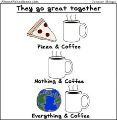 They Go Great Together... ohh yesss, everything goes great with coffee. EVERYTHING.