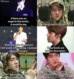 Oh sehun upto his usual antics #SEBUM #EXO