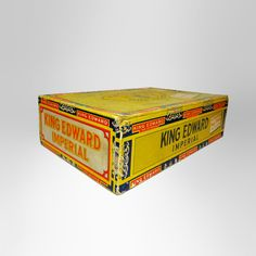 Vintage King Edward the Seventh Happy Birthday Empty Cigar Box - Vintage King Edward the Seventh imperial happy birdthay empty cigar box. W.I Holt & Son Farm Cox's Creek, Ky. 40013. For more info visit our web