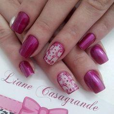 pink-nail-art-54 - 65 lovely Pink Nail Art Ideas   <3