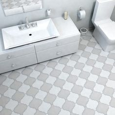 SomerTile 8x8-inch Morocco Provenzale White Porcelain Floor and Wall Tile (Case of 16) | Overstock.com Shopping - The Best Deals on Wall Tiles