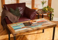 Buy a Hand Made Reclaimed Wood Coffee Table, Teak Coffee Table, Bali Boat Coffee Table For Living Room, made to order from Blowing Rock WoodWorks | CustomMade.com