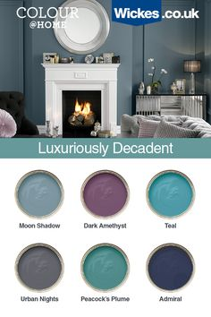 Get a classic and sophisticated look easily with our rich decadent colour palette Lounge Colour Schemes, Paint Color Schemes, House Color Schemes, Living Room Color Schemes, House Colors, Bedroom Colour Schemes Inspiration, Interior Colour Schemes, Hallway Colour Schemes, Kitchen Colour Schemes