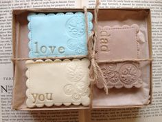 Cookie Gift Set by NilaHolden on Etsy, £13.50 I have ordered from Nila-her cookies are BEAUTIFUL and delicious! What a lovely idea for a wedding or bridal shower Check her Etsy shop for more kinds