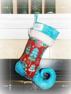 Christmas stocking  elf stocking with by sugarplumfaire on Etsy, $59.00