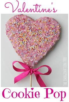How to Make Valentine's Cookie Pops - The Imagination Tree