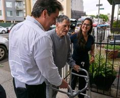 John Sonny Franzese, 100, is helped by family members as he arrives at the residence where he'll be living in Greenpoint, Brooklyn, Friday, June 23, 2017. :Photo Credit Craig Ruttlee Colombo Crime Family, Frank Costello, Howard Beach, Real Gangster, Court Records, Mafia, Prison, The Man, Mobsters