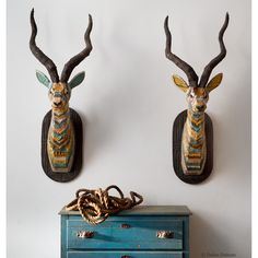 No animals were harmed in the making of this art. These works reinvent the classic taxidermy mount, fashioning majestic animal heads from reclaimed materials..