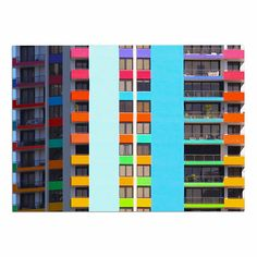 KESS InHouse Philip Brown 'The Rainbow building' Multicolor Modern Dog Place Mat, 13' x 18' -- Remarkable product available now. (This is an amazon affiliate link. I may earn commission from it)
