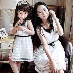 Family's Fashion   Doll Collar Fashion Short Sleeve  Organza Parentage Clothes – USD $ 23.20