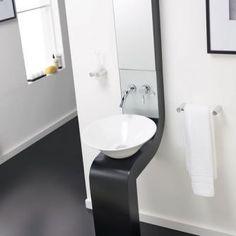 Hudson Reed Sass freestanding basin unit in black.
