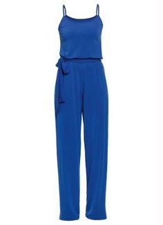 Macacão Azul com Alcinhas- Quintess - Moda FemininaMacacão - Posthaus.com.br