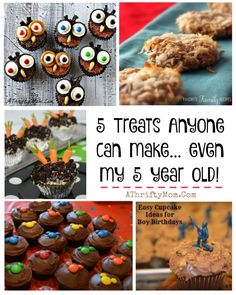 kid recipes, easy desserts that anyone can make, easy recipes for birthday parties, cute cupcake ideas