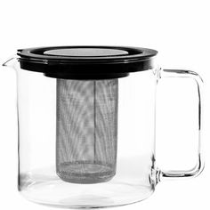 1300 ml Teekanne Earl aus Glas mit Metallsieb Butlers Butler, Glass Teapot, Plastic Glass, French Press, Aluminium, Tea Set, Coffee Maker, Herbs, Stainless Steel