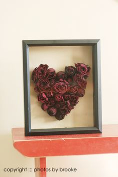 Rose Heart Shadow Box. Here's what you do with all those roses you've dried.