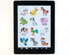 The Sound Touch app shows photographs and plays sounds relating to illustrations pressed o...