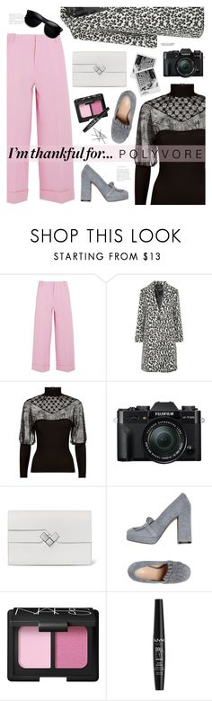 """""""Thankful For..."""" by mylkbar ❤ liked on Polyvore featuring Roland Mouret, Maje, Pinko, Fuji, Carla G., NARS Cosmetics, NYX, ZeroUV and thanksgiving"""