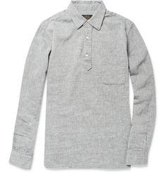 Beams Plus  Linen and Cotton-Blend Herringbone Shirt