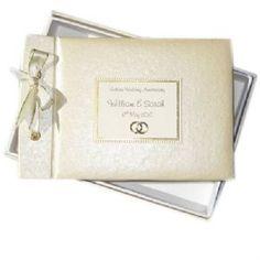 GOLDEN WEDDING RINGS - GOLDEN 50th WEDDING ANNIVERSARY GUEST BOOK