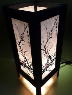 oriental lighting. Asian Oriental Japanese Sakura Cherry Blossom Tree Branch Art Bedside Table  Lamp Oriental Lighting