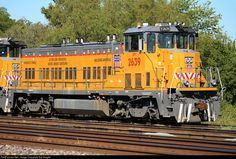 Union Pacific # 2639 resting in the yard in Dallas, TX on Union Pacific Train, Union Pacific Railroad, Diesel Locomotive, Steam Locomotive, Locomotive Engine, Railroad Companies, Railroad Pictures, Milwaukee Road, Pennsylvania Railroad