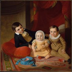 John F. Francis (1808-1886)  — Three Children,  1840  :  Museum of Fine Art, Boston. USA  (1600x1599