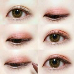 Eye Makeup Tips.Smokey Eye Makeup Tips - For a Catchy and Impressive Look Korean Makeup Tips, Asian Eye Makeup, Asian Kawaii Makeup, Make Up Looks, Pink Eyeshadow, Makeup Eyeshadow, Korean Eyeshadow, Korean Eyeliner, Korean Lips