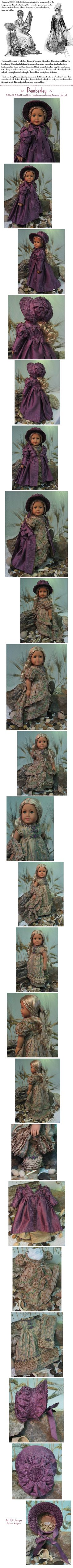 """MHD Designs """"Pemberly"""" for Caroline or other American Girl Dolls"""