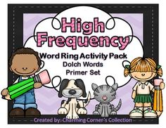 This Dolch Word Ring Activity Pack includes: * 2nd Set of Dolch Words: Primer* 3 different card styles to give you printing options* I Can Statements* Student Record Sheet to be used for a running record* 1 Dolch Word Sticker book* 5 word practice student handouts including: 1 mini book, 1 Write the Words practice sheet, 1 word mat that can be copied on cardstock and laminated for a center, 1 Build Your Words activity, and 1 Write Your Words to make a List sheet.