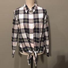 0a2a1eb6d65191 Equipment Groundwork Plaid Daddy Tie Front Shirt Button Down Shirt. Free  shipping and guaranteed authenticity. Tradesy