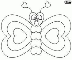 Znalezione obrazy dla zapytania motyl kolorowanka