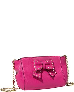 SINCERELY YOURS BOW CROSSBODY RED accessories handbags day satchels