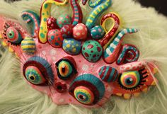 Mint Caterpillar Elf Psychedelic Handmade Toy от PowWowMadHouse